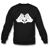 Mickey Hands with Diamond crewneck sweatshirt