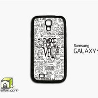 Pierce The Veil Song Lyric Samsung Galaxy S4 Case Cover by Avallen