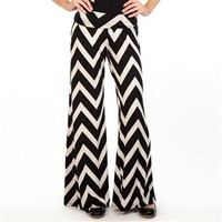 Living Doll Juniors Chevron Palazzo Pant at Dry Goods