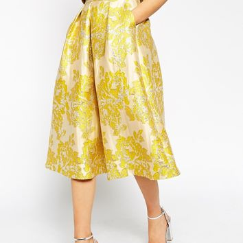 ASOS Golden Jacquard Skirt co-ord