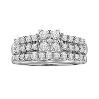 Love Always Princess-Cut Diamond Engagement Ring Set in Platinum Over Silver (3/4 ct. T.W.) (White)