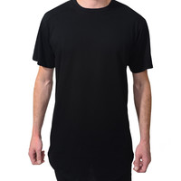 LE3NO Mens Premium Loose Fit Short Sleeve Crew Neck T Shirt