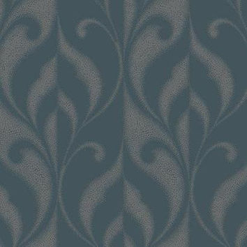 Sample of Paradox Wallpaper in Metallic Blue design by York Wallcoverings