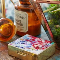 Plum & Bow Floral Enamel Stash Box- Floral Multi One