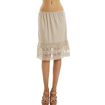 Women's Knit Double Laced Half Slip/Skirt Extender