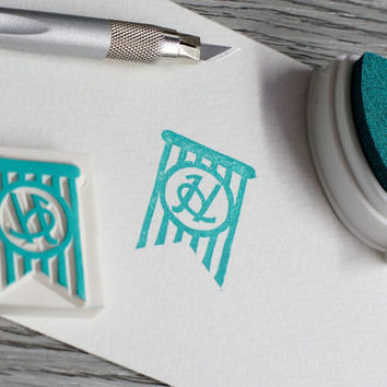 initial stamp, initial rubber stamp, monogram rubber stamp, custom stamp, personalized wedding stamp, shop logo stamp, online shop packaging