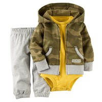 Carter's Camo Hooded Cardigan Set - Baby Boy, Size: