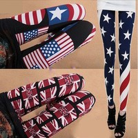 The American flag leggings