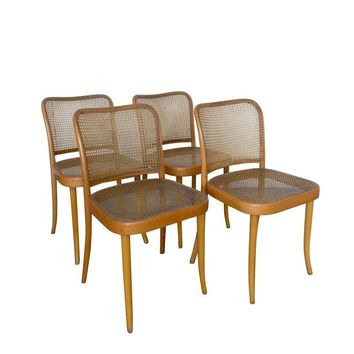 "Pre-owned Thonet ""Prague"" Bentwood Side Chairs - Set of 4"