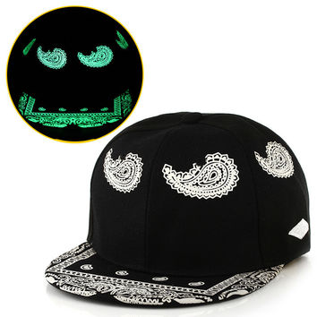 New Fashion Casual Cap Noctilucence Lighting Print Hip Hop Hat = 5987982785