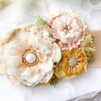 Floral Bridal Belt ~ Country Garden