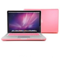 "GMYLE(R) 2 in 1 - Pink Frosted Matte Rubber Coated Rubberized See Thru Hard Snap On Case for Apple 13.3"" inch Macbook Pro - With Silicone Pink Protective Keyboard Skin Cover"