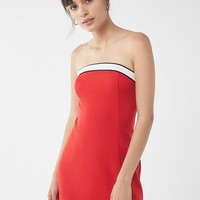 UO Colorblock Strapless Mini Dress | Urban Outfitters