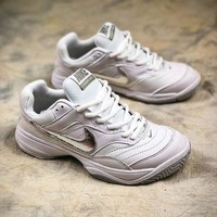 DCCKU62 Nike Court Lite White Silver 845048-100 Tennis Shoes