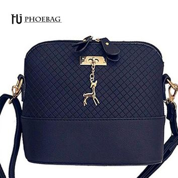 HJPHOEBAG 2017 New Fashion Shell Women Messenger Bags High quality Deer Cross body Bag PU Leather Mini Female Shoulder Bag Z-151