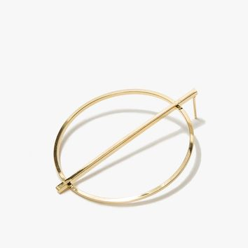 Divided Circle Earring