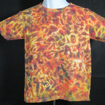 Hand Dyed Lava Tie Dye Shirt | Hanes Beefy-T 6.1oz Shirt Adult Adult (SHORT or LONG SLEEVE)