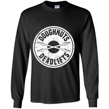 Doughnuts and Deadlifts T-Shirt Weight Lifting Powerlifter