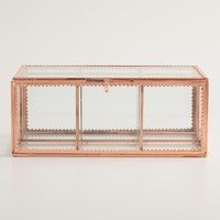 Copper Glass Tea Storage Box