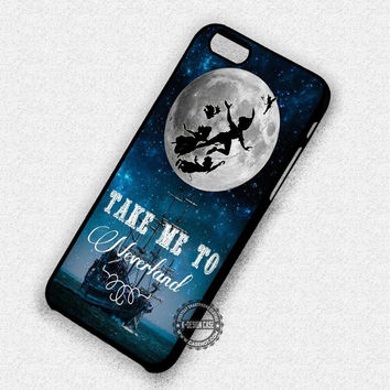 Silhouette on The Full Moon Peter Pan Neverland - iPhone 7 6 5 SE Cases & Covers