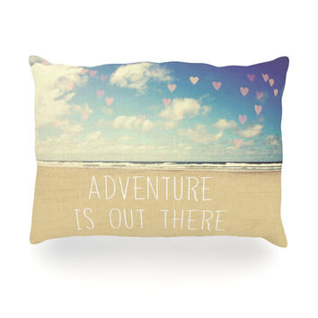"Sylvia Cook ""Adventure is Out There"" Oblong Pillow"