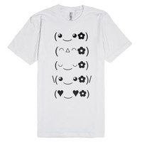 super happy kawaii!-Unisex White T-Shirt
