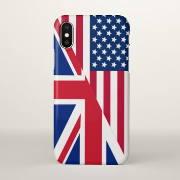 American and Union Jack Flag iPhone X Case