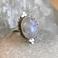 Good Vibes Moonstone Ring