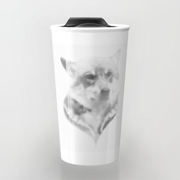 Wolf Minimalist Travel Mug by Brittany