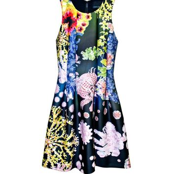 Cynthia Rowley - Bonded Seamed Waist Dress | New Arrivals
