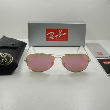 Gotopfashion RAY-BAN COCKPIT SUNGLASSES RB3362 112/4T GOLD FRAME/CYCLAMEN LENS 59MM, NEW!