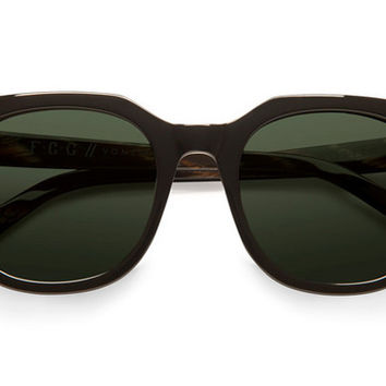 VonZipper - Wooster Black Gloss BKV Sunglasses, Vintage Grey Lenses