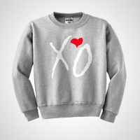 XO The Weeknd ovoxo Drake Thursday love illest ymcmb  heart Crewneck sweatshirt