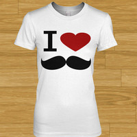 Product - I Love Mustache Tee (ladies) by Delight Brand Clothing · Storenvy