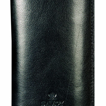 Savoy Cigar Cases Dbl Corona 3 Finger Case Black