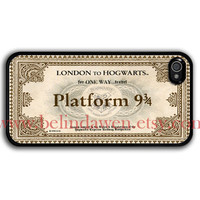iPhone 4 Case, iphone 4s case, Hogwarts Express Train Ticket  iphone 4 case, harry potter