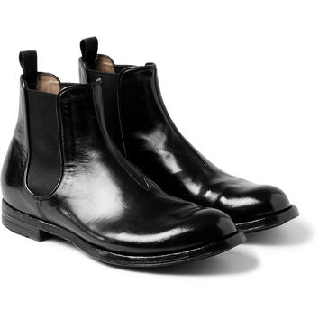 Officine Creative - Anatomia Glossed-Leather Chelsea Boots | MR PORTER