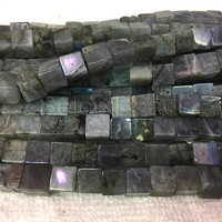 labradorite cube beads - labradorite stone for sale - labradorite beads wholesale - labradorite gemstone beads -10mm 12mm cube beads -15inch