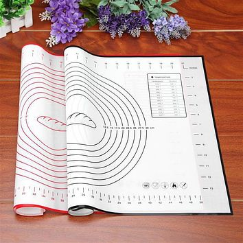 Hoomall Silicone Baking Mat Baking Sheet Rolling Dough Pastry Cakes Bakeware Liner Heat Resistance Mat Paste Flour Table Pad