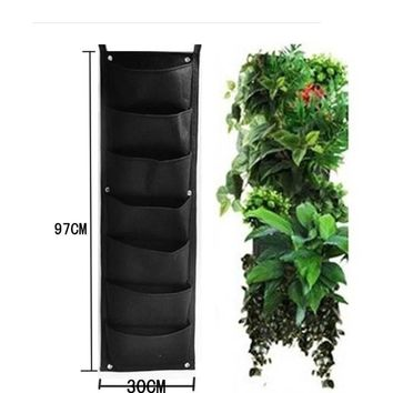 7 Pocket Outdoor Vertical Living Wall Planter