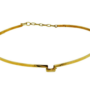 Gold 14K Choker Necklace