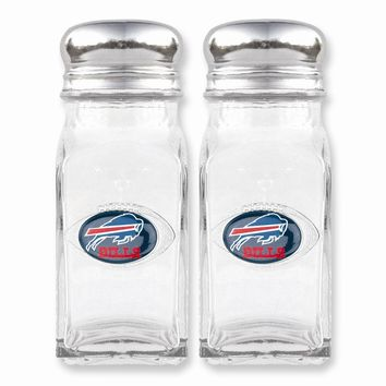 NFL Bills Glass Salt and Pepper Shakers - Etching Personalized Gift Item