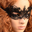 Black Lace Floral Eye Masquerade Mask