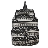 Generic New Ladies Girls Flower Floral Skull Backpack Rucksack Travel School College Bag (Coffee)