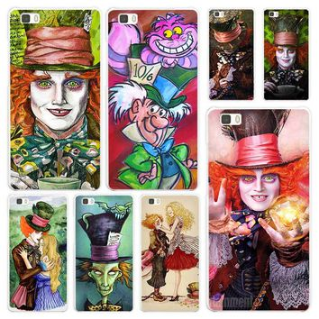 Alice In Wonderland Johnny Depp Smiling White Coque Shell Case Cover Phone Cases for Huawei P7 P8 P9 P10 Lite Mate s 7 8 9