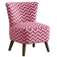 Skyline Furniture Mid Century Modern Chair in Zig Zag Candy Pink