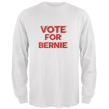 Election 2020 Vote For Bernie 3D White Adult Long Sleeve T-Shirt