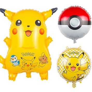 New  go Pikachu  pocket elf monster balloons Birthday party balloon decoration children's toys balloons Kawaii Pokemon go  AT_89_9