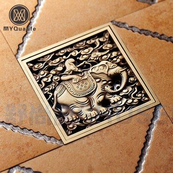 Brass Elephant Floor Drain
