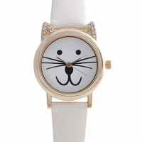 Cream Cat Watch